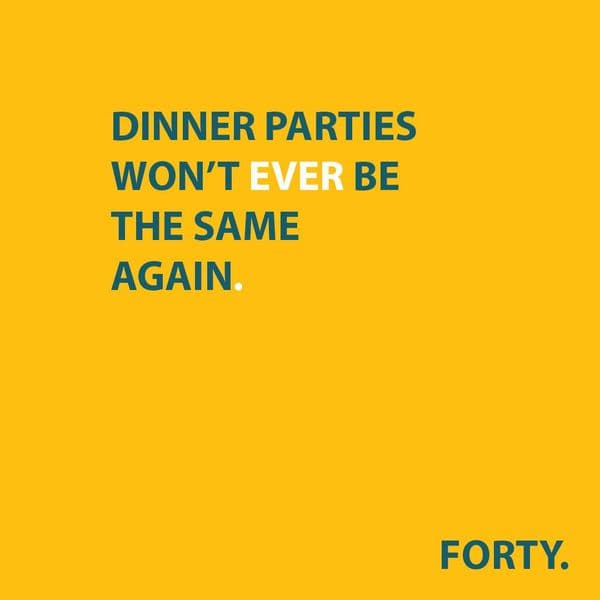 FORTY. The Conversation Card Game